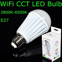 android ip address - 10Pcs AC85 V W E27 CCT K Warm White to White Led Bulb Builted in Wifi IP Address Android or IOS