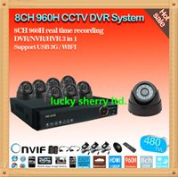 Wholesale 8ch channel cctv Home Security DVR surveillance System IR Dome tvl Camera Kit free ARSP mobile and IE remote view