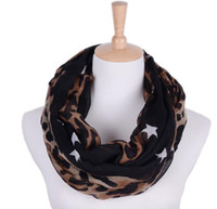 best leopard print scarves - Fashion Elegant Leopard Pattern Infinity Scarves For Women Ring Scarf For Autumn Winter Best Festival Gift