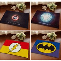 Wholesale Digital Printed Flash Ironman Hulk Thor Animation Heroes Logo Doormat cm Bedroom Carpet Super Soft Mats Cartoon Floor Door Rugs