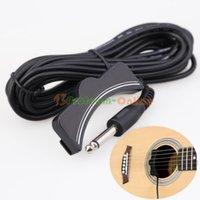 Wholesale Classical Acoustic Guitar Amplifier Soundhole Pickup mm Jack M Cable Black
