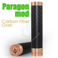 Wholesale Paragon Carbon fiber body full Mechanical mods fit battery vs Overdose Lunar Manhattan Sioux Anarchist Akuma Morpheus Kato Atomo mods