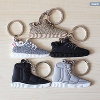 Wholesale 2016 Cute Silicone Boost Keychain Sneaker Key Chain Kids Key Rings Key Holder Llaveros Chaveiro Porte Clef TOPHH1267