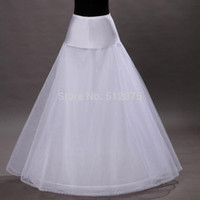 Wholesale In Stock Hoop Tulle Netting A Line Tier Floor Length Style Bridal Petticoats for Wedding Dresses