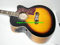 Wholesale NEW Arrival Vintage sunburst Electric Acoustic guitar With EQ guitar factory Musical Instruments Lack of Angle guitars