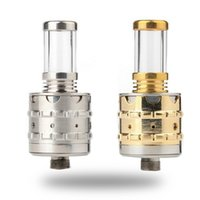 Cheap Crown RDA Atomizer Golden Stainless Crown Atomizer Dry Herb Crown Atomizer VS Omega Patriot Magma ATTY 28MM metal plastic silicon by DHL UPS