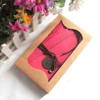 Wholesale 1 x Vintage PU Leather Cover String Hold Blank Journal Travel Diary Ruler Notebook Colors