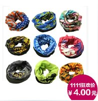 Wholesale 2014freeshippingMagic Scarf Multifunctional scarf Scarves Outdoor Seamless Collar Caps Variety Magic scarf Mask multi color