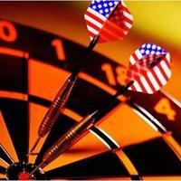 Wholesale Nice Steel Needle Tip Darts With Nice National Flag Flights In Door Games