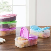 plastic food storage container - pieces Kitchen Double Flip Food Storage Box Tank Airtight Containers Sealed Cans For Grains Kitchen Tool