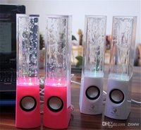 Plus nouveau style de danse de l'eau haut-parleur LED USB mini haut-parleur portable pour MP3 4 téléphone mobile ordinateur coloré d'eau-drop Show HZ 012