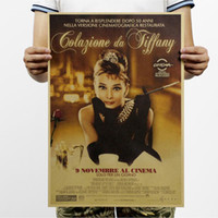 audrey hepburn wall - Breakfast at Tiffany s movie kraft paper posters Audrey Hepburn wall stickers room decor home decal vintage mural art home decorat