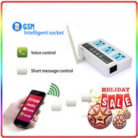Cheap Brand New 3 Sockets Remote Control Wireless Mobile Phone GSM SIM Energy Saving Smart Switch