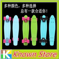 Wholesale 16pcs Mini Plastic Skateboard Penny Skateboard color deck trucks wheels penny skateboard wheel deck