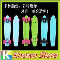 skateboard truck - 16pcs Mini Plastic Skateboard Penny Skateboard color deck trucks wheels penny skateboard wheel deck