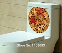 beautiful bathroom decor - Adhesive Waterproof Toilet Sticker D Starfish Beautiful Bathroom Decoration Home Decor Vinyl Stickers