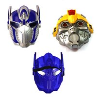 Wholesale PVC masquerade mask LED Light Movie Optimus Prime mask Party Halloween Carnival Mask Full Face masks children adult