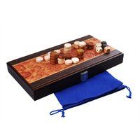 Wholesale High quality Family Travel entertainment Toys Brand New Solid Wood Folding Portable Travel Wooden Backgammon Games