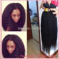 yaki weave hair - 8A Mongolian Pure Coarse Yaki Italian Yaki Human Hair Extensions Virgin Mongolian Kinky Straight Weave Instock