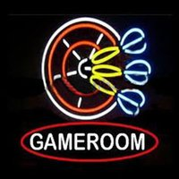 bar darts - 17 quot x14 quot GAMEROOM DART Design Real Glass Neon Light Signs Bar Pub Restaurant Billiards Shops Display Signboards