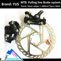 ans line - ANS White Mountain Bike Line Pulling Disc Brake MTB Mechnical DISC Brake Group Set Kit Bicycle Parts Accessary