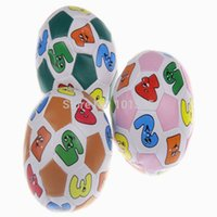 Wholesale Colorful Soft Ball Baby Intelligence Toy Learning Number Animal Pattern Balls Baby kids football toy