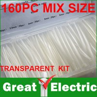 Wholesale Mix Size Transparent Color Heat Shrink Tubing Kit With Good Quality Box Shrinkable Tubing CGKCH010