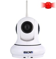 Wholesale ESCAM wireless ip camera MP QF500 motion detector support one key arm disarm alarm up to GB TF card with door sensor ip cameras DHL ZKT