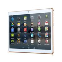 Wholesale 10 quot Tablet PC Eight Core Andriod G G MTK6582 phone dual card camera rear million pixel flash IPS GB GB Bluetooth GPS naviga