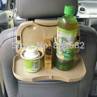 Wholesale Multi Tray Food Car Stand Rear Seat Beverage Rack water Drink Holder Bottle Travel accessory folding meal Cup holder desk table