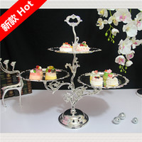 angels dishes - European Iron cake stand Pastry dessert dish fruit plate Metal tray Wedding decoration dessert swing sets
