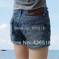 jean skirts - 2014 New Hot Sell High Quality Denim Shorts Women Curling significantly thin Fashion Ladies Jean Shorts A2