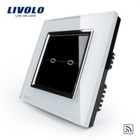Wholesale livolo force Wal intelligent switch touch remote control switch R series single control two open remote switch