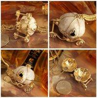 best halloween pumpkins - 2015 New Cinderella necklace pendant Cinderella Magic Pumpkin Car Necklaces Pendants Sweater Chain Necklaces Best Gift DDA2865
