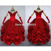 aristocrat wig - Custom made Elegant Aristocrat Red Victorian Dress Ball Gown Gothic Dress Costume CW043