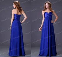 Cheap Formal Dresses 2015 Grace Karin Evening Dress Sweetheart Crystals Beaded Royal Blue Prom Dress Under 50 Corset Evening Gowns Custom FY830