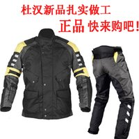 Wholesale Dunham115 motorcycle ride clothing jacket and pants set race clothing male motorcycle popular clothing autumn and winter
