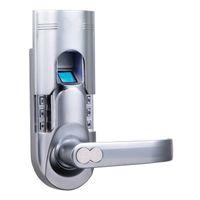 Wholesale MOQ Up ASSA ABLOY Electronic Single Latch Biometric Fingerprint Keypad Door Lock Key lock knob Chrome Right Lever handle