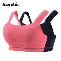 bh fitness - Running Sports Bra Top Seamless Wire Free Women Bra Fitness Gym Sport Bra Vest Full Cup Padded Strappy Bra For BH Women SANTIC