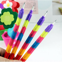 Wholesale BP342 Korea stationery multifunctional bullet blocks pen pencil magicaf deformation multicolour prize