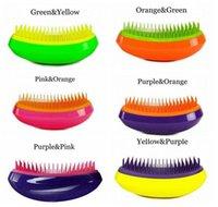 Wholesale Professional Salon Elite Tangle Detangling Hair Brush Portable Magic Antistatic TT comb Hair Probucts Detangle tangle Hair Brush Styling