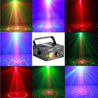 Wholesale High quality Lens Patterns Club Bar RGB Laser BLUE LED Stage Lighting DJ Home Party show Professional Projector Light Disco
