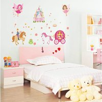 art glass ornaments - Cartoon Fairy Tale Princess Kids Baby Bedroom wall stickers decals home decor Temporary wallpaper House Living Room Ornament
