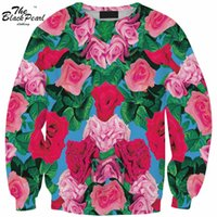 barbed rose - Sweatshirt New Sexy Women Hoodies Harajuku Style Sweatshirts D Pullovers Barbed Rose Green leaves Sportswear Tracksuits FG1510
