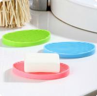 Wholesale Silicone soap box Bathroom Accessories fashion cute soap dish home daily supplies
