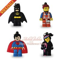 baby boy pendants - Boy Lucky Cartoon Character Lego Movie PVC Keychains Charms pendants Necklaces Components Charms berloques for baby girls Party Gifts