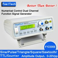 Wholesale FY2200S DDS NC dual channel function signal generator Mhz mhz mhz mhz mhz mhz mhz mhz for optional