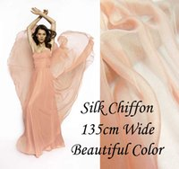 Wholesale Solid Color MOONSTONE PINK Gorgeous Pure Silk Soft Sheer Chiffon Fabric momme for By The Meter Yard inches alpc