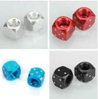atv tire wheels - 6 Metal Dice Bike Car Motorcycle ATV Tyre Tire Wheel Valve Dust Caps Covers A5