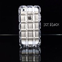 apple ice cube - ICE BLOCK Phone Case Ice Cube Soft TPU Transparent Crystal Checkered Cover Case for iphone s Plus